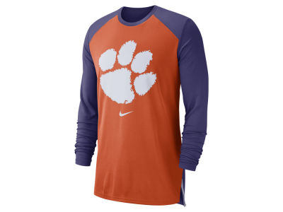 Clemson Tigers Nike NCAA Men's Breathe Shooter Long Sleeve T-Shirt
