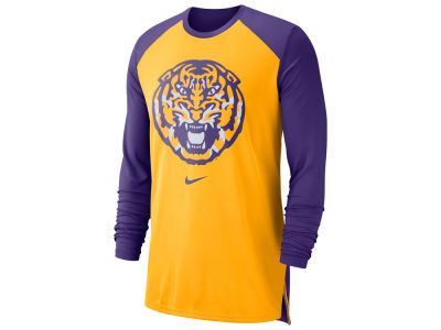 LSU Tigers Nike NCAA Men's Breathe Shooter Long Sleeve T-Shirt