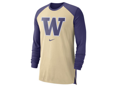 Washington Huskies Nike NCAA Men's Breathe Shooter Long Sleeve T-Shirt
