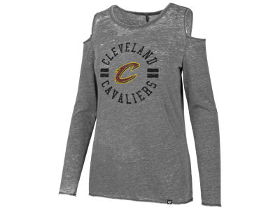Cleveland Cavaliers '47 NBA Women's Cold Shoulder Long Sleeve T-Shirt