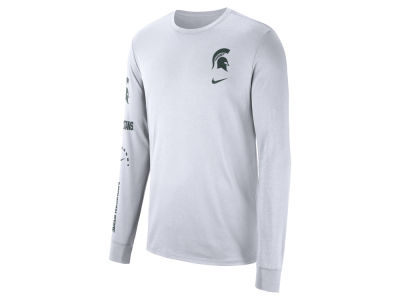 Michigan State Spartans Nike NCAA Men s Long Sleeve Basketball T-Shirt dc7c4a924