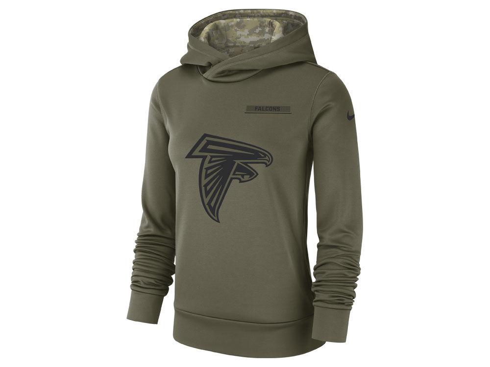 Atlanta Falcons Nike 2018 NFL Women s Salute To Service Therma Hoodie  e022618709