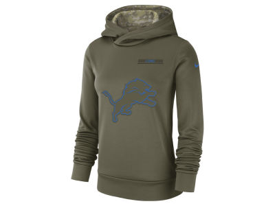 Detroit Lions Nike 2018 NFL Women's Salute To Service Therma Hoodie