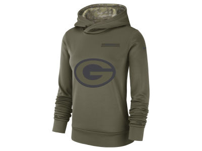 Green Bay Packers Nike 2018 NFL Women's Salute To Service Therma Hoodie