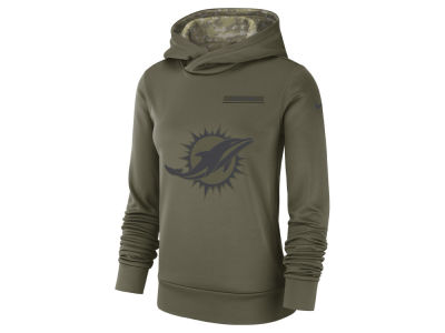 Miami Dolphins Nike 2018 NFL Women's Salute To Service Therma Hoodie