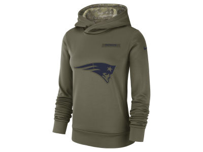 New England Patriots Nike 2018 NFL Women's Salute To Service Therma Hoodie