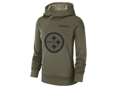 Pittsburgh Steelers Nike 2018 NFL Women's Salute To Service Therma Hoodie