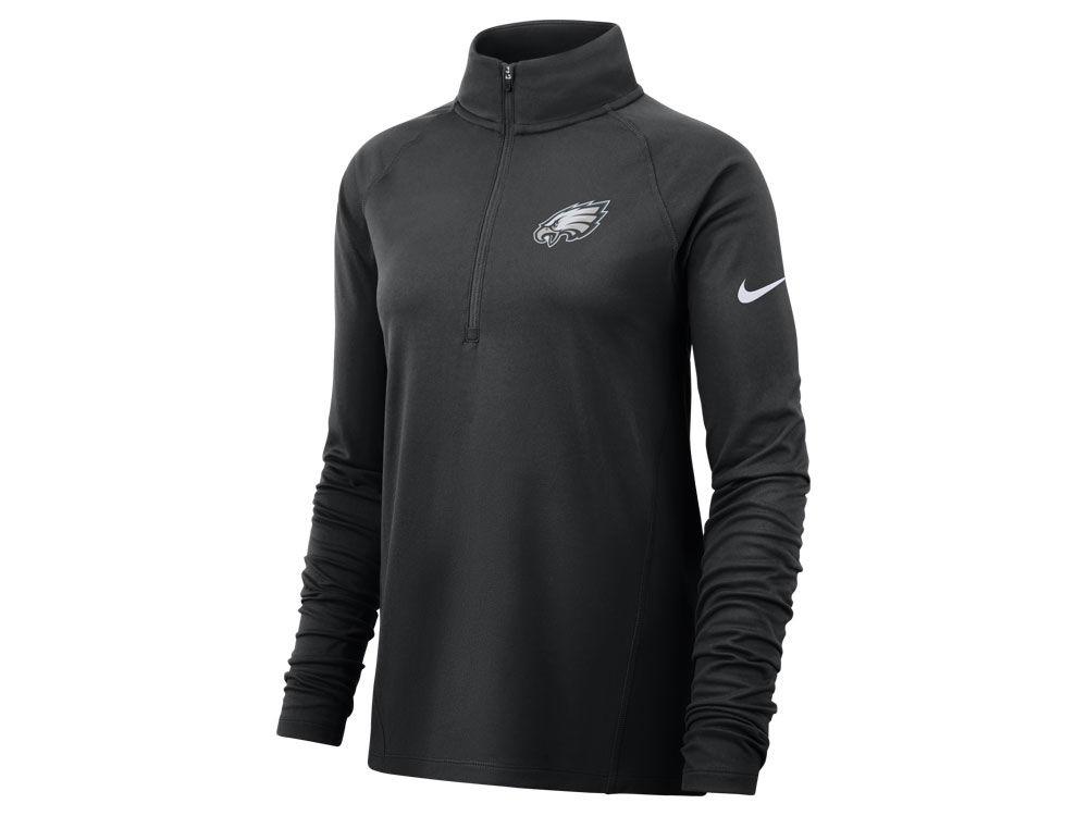 Philadelphia Eagles Nike NFL Women s Half Zip Core Element Pullover ... e34917f73