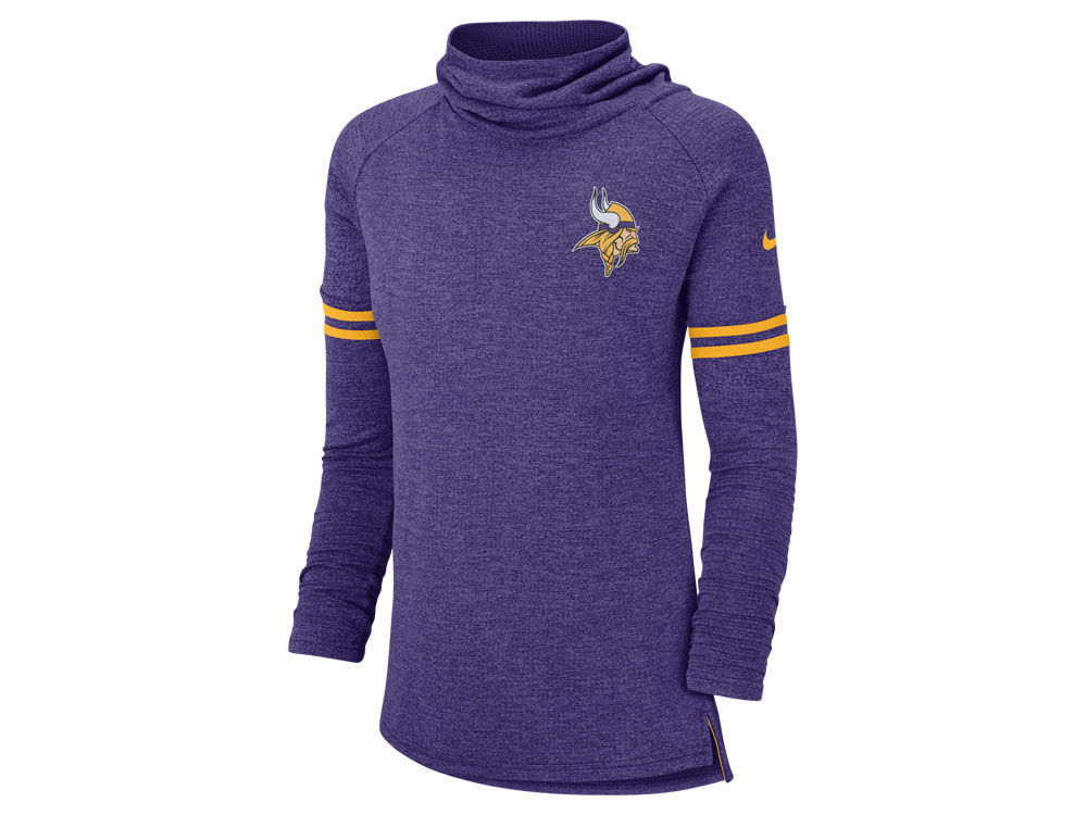 Minnesota Vikings Nike NFL Women s Funnel Logo Long Sleeve T-shirt ... 2a5297f98