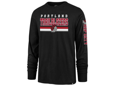 Portland Trail Blazers '47 NBA Men's Level Up Super Rival Long Sleeve T-Shirt