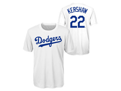 Los Angeles Dodgers Clayton Kershaw Outerstuff MLB Youth Coop Poly Player T-Shirt
