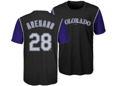 Colorado Rockies Nolan Arenado Outerstuff MLB Youth Coop Poly Player T-Shirt