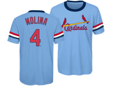 St. Louis Cardinals Yadier Molina Outerstuff MLB Youth Coop Poly Player T-Shirt