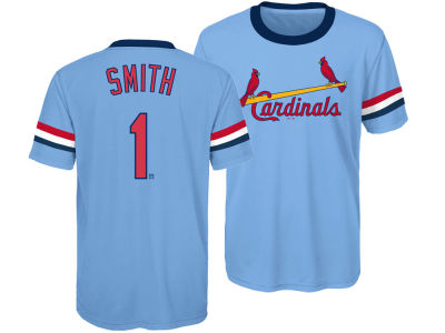 St. Louis Cardinals Ozzie Smith Outerstuff MLB Youth Coop Poly Player T-Shirt