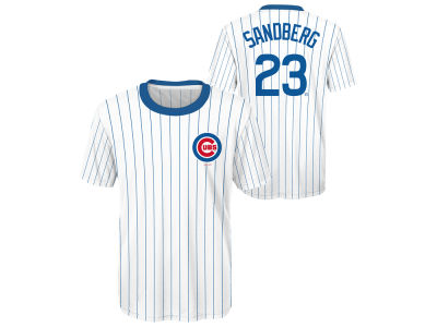 Chicago Cubs Ryne Sandberg Outerstuff MLB Youth Coop Poly Player T-Shirt