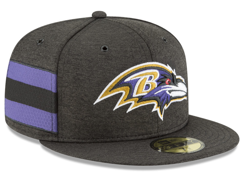 eb584c35aee Baltimore Ravens New Era 2018 Official NFL Sideline Home 59FIFTY Cap ...