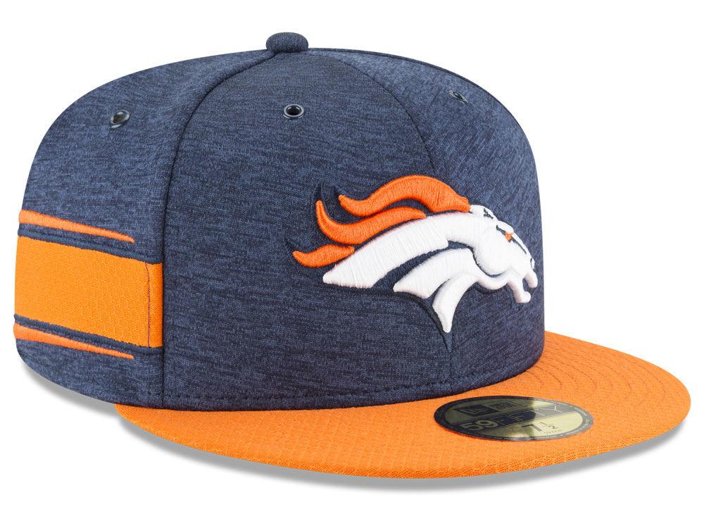 Denver Broncos New Era 2018 Official NFL Sideline Home 59FIFTY Cap ... 3d8c2efe73b