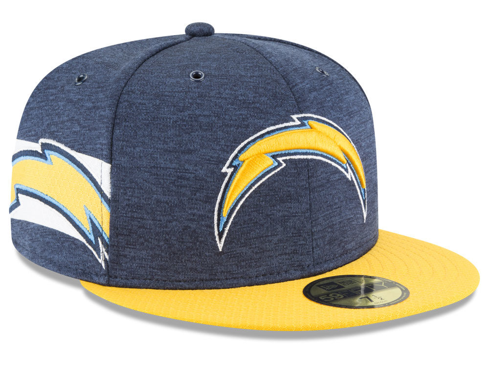 Los Angeles Chargers New Era 2018 Official NFL Sideline Home 59FIFTY Cap  fb6c62c49