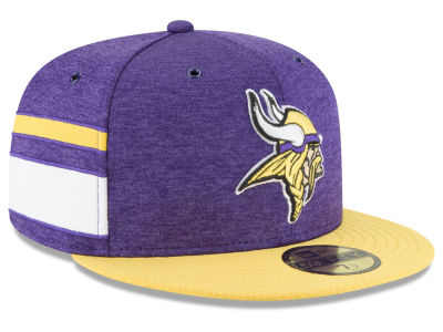 Minnesota Vikings New Era 2018 Official NFL Sideline Home 59FIFTY Cap e359ebdea