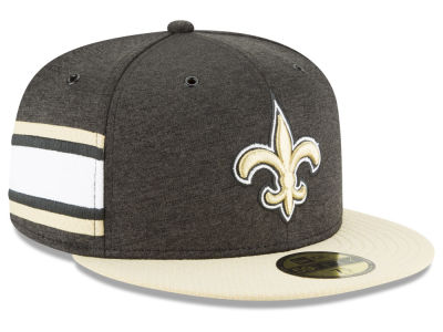 New Orleans Saints New Era 2018 Official NFL Sideline Home 59FIFTY Cap