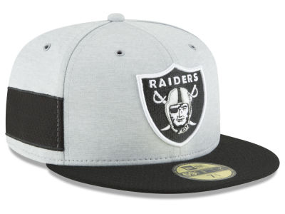 4f15149fa7e Oakland Raiders New Era 2018 Official NFL Sideline Home 59FIFTY Cap
