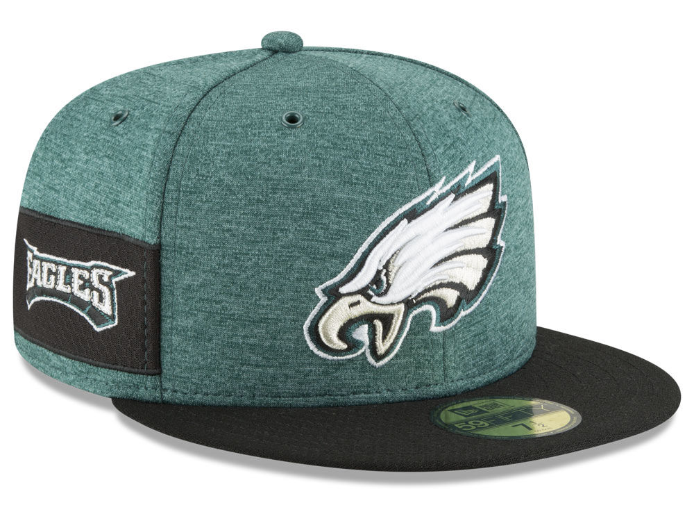 455ce87df89 Philadelphia Eagles New Era 2018 Official NFL Sideline Home 59FIFTY Cap