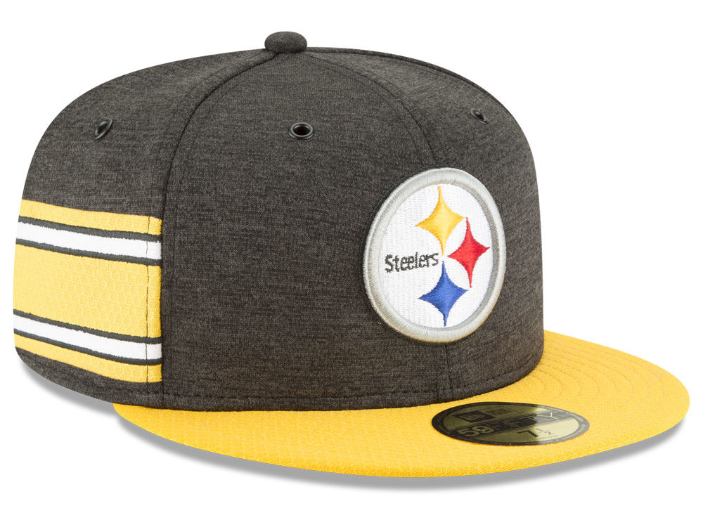 Pittsburgh Steelers New Era 2018 Official NFL Sideline Home 59FIFTY Cap  707fe229fbb