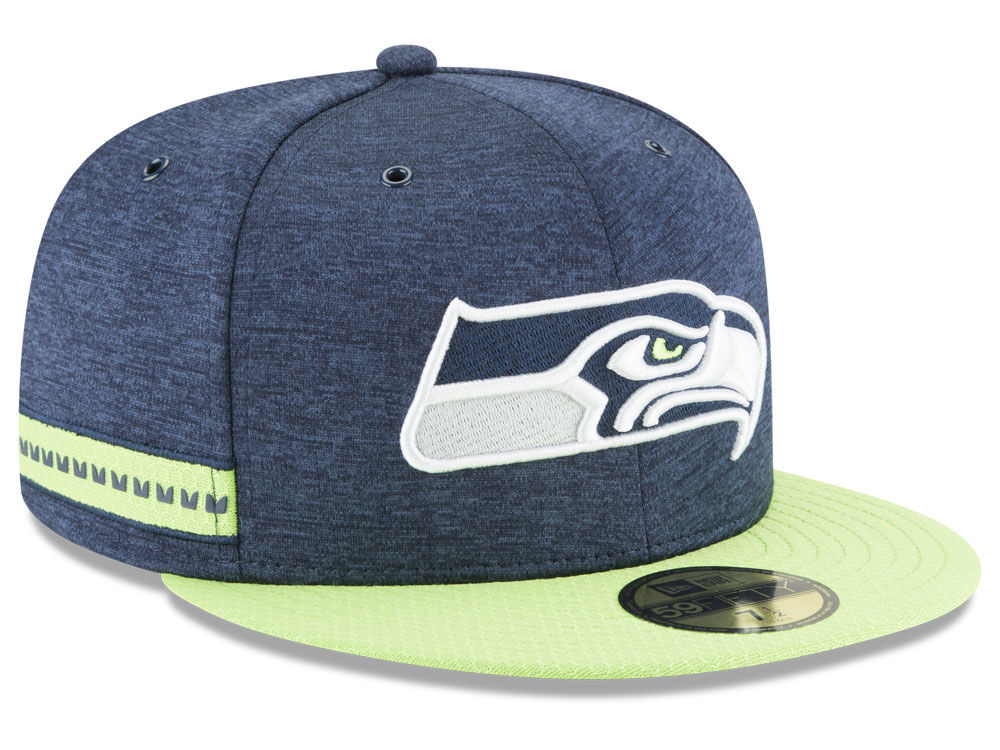 5ed2036d7c6 Seattle Seahawks New Era 2018 Official NFL Sideline Home 59FIFTY Cap ...