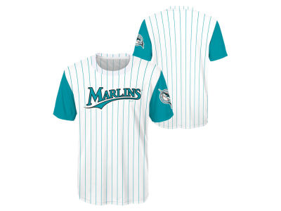 Miami Marlins Outerstuff MLB Youth Coop Poly Blank T-Shirt
