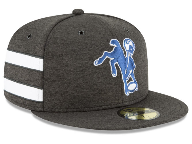 2425576ba Indianapolis Colts New Era 2018 Official NFL Sideline Home 59FIFTY Cap