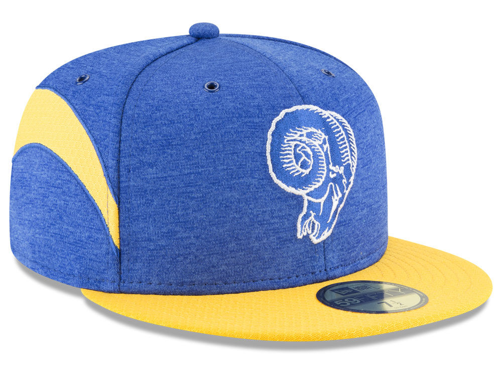 Los Angeles Rams New Era 2018 Official NFL Sideline Home 59FIFTY Cap ... 0f0b6ab4682