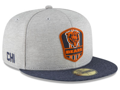 Chicago Bears New Era 2018 Official NFL Sideline Road 59FIFTY Cap