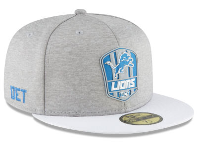 Detroit Lions New Era 2018 Official NFL Sideline Road 59FIFTY Cap