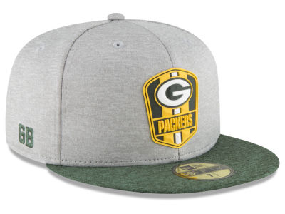 Green Bay Packers New Era 2018 Official NFL Sideline Road 59FIFTY Cap