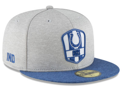 Indianapolis Colts New Era 2018 Official NFL Sideline Road 59FIFTY Cap 21c870ac7a5