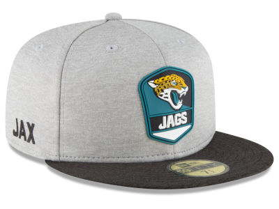 Jacksonville Jaguars New Era 2018 Official NFL Sideline Road 59FIFTY Cap