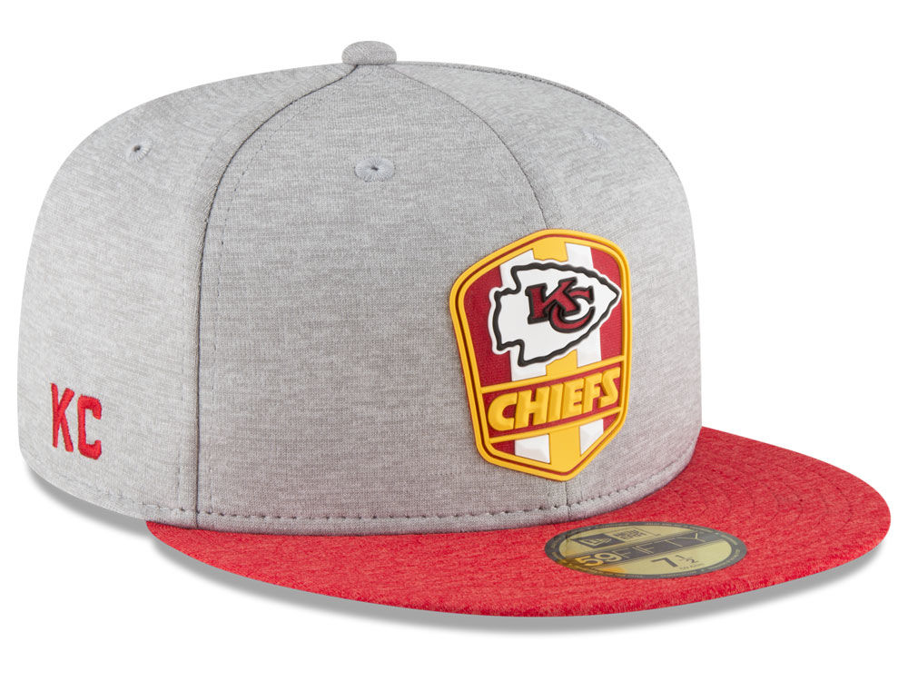 f041c4dc408 Kansas City Chiefs New Era 2018 Official NFL Sideline Road 59FIFTY Cap