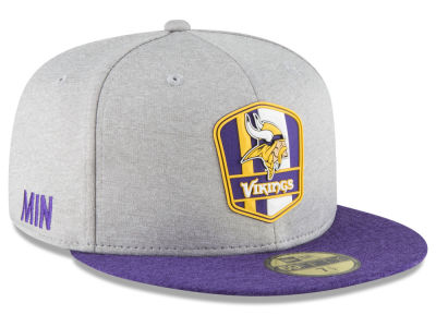 Minnesota Vikings New Era 2018 Official NFL Sideline Road 59FIFTY Cap b167f4df0