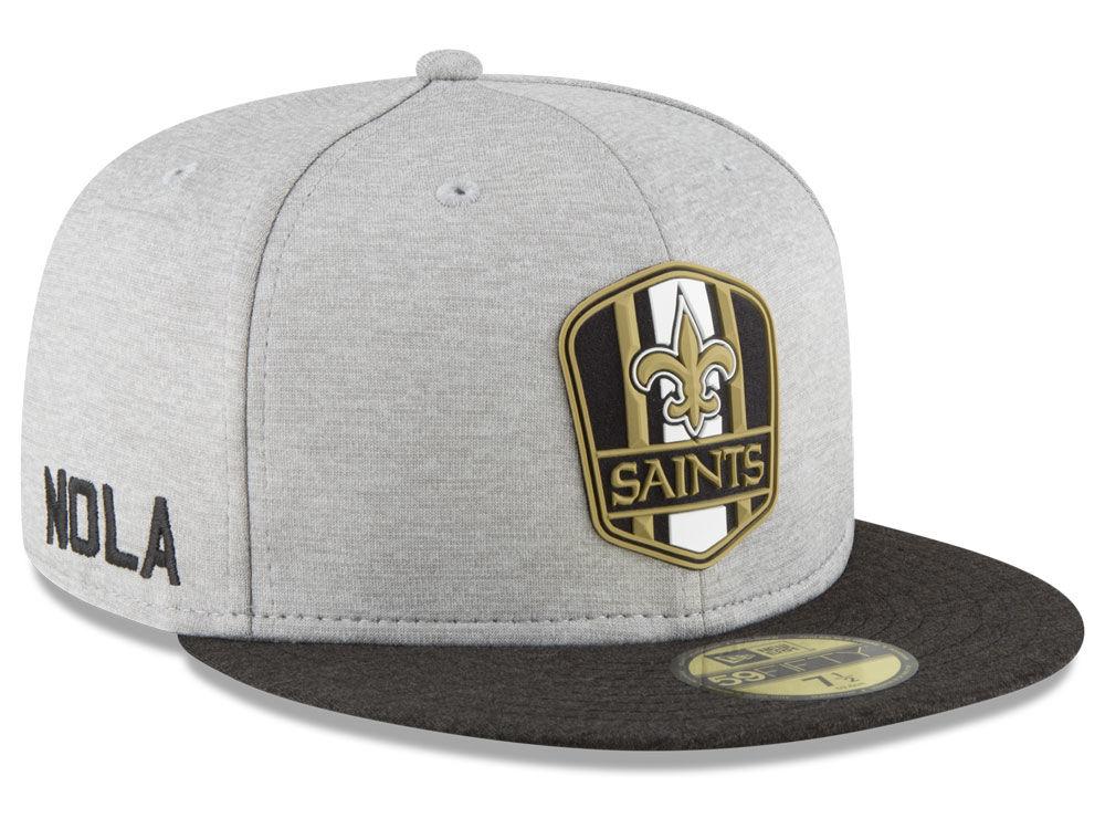 New Orleans Saints New Era 2018 Official NFL Sideline Road 59FIFTY Cap  7d3f5a71530