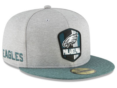 Philadelphia Eagles New Era 2018 Official NFL Sideline Road 59FIFTY Cap