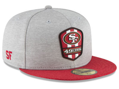 San Francisco 49ers New Era 2018 Official NFL Sideline Road 59FIFTY Cap
