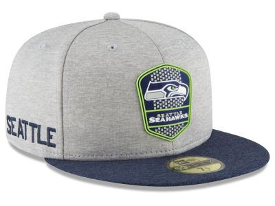 Seattle Seahawks New Era 2018 Official NFL Sideline Road 59FIFTY Cap