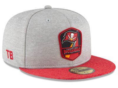 Tampa Bay Buccaneers New Era 2018 Official NFL Sideline Road 59FIFTY Cap