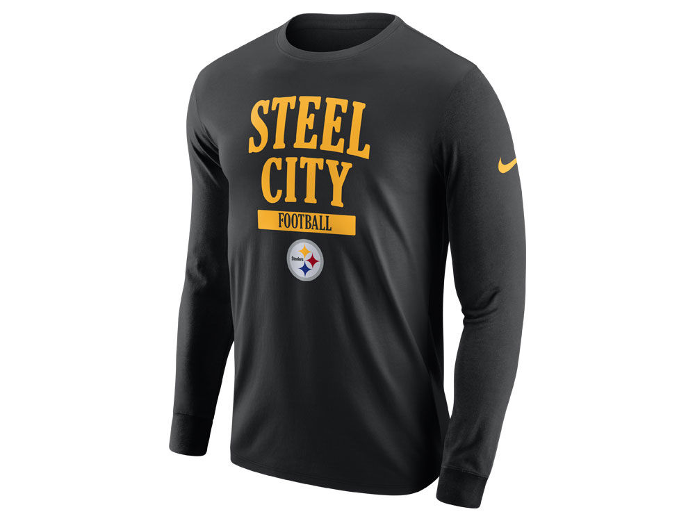 902e509a0 Pittsburgh Steelers Nike NFL Men s Dri-Fit Cotton Local Long Sleeve T-Shirt