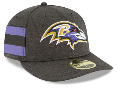 Baltimore Ravens New Era 2018 Official NFL Sideline Low Profile Home 59FIFTY Cap