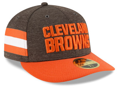 Cleveland Browns New Era 2018 Official NFL Sideline Low Profile Home 59FIFTY Cap