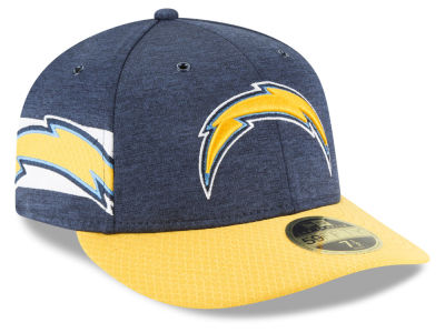 Los Angeles Chargers New Era 2018 Official NFL Sideline Low Profile Home 59FIFTY Cap