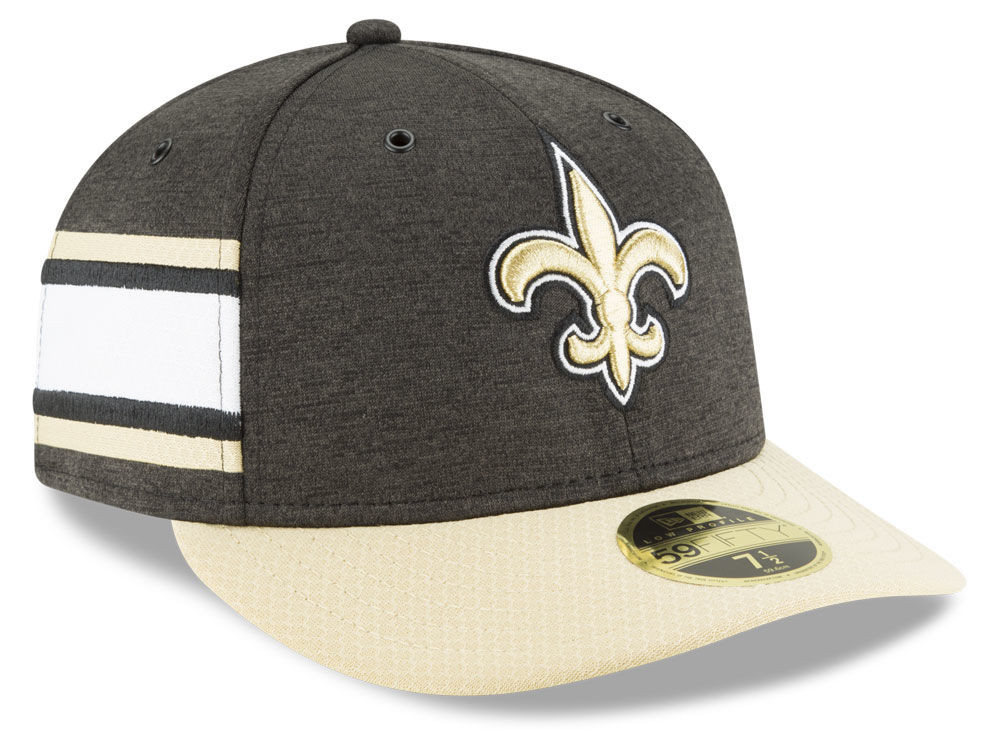 New Orleans Saints New Era 2018 Official NFL Sideline Low Profile Home  59FIFTY Cap  46be7260c