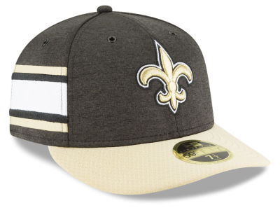 New Orleans Saints New Era 2018 Official NFL Sideline Low Profile Home 59FIFTY Cap