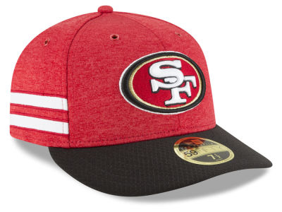 San Francisco 49ers New Era 2018 Official NFL Sideline Low Profile Home 59FIFTY Cap